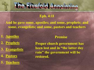 The Fivefold Annointing