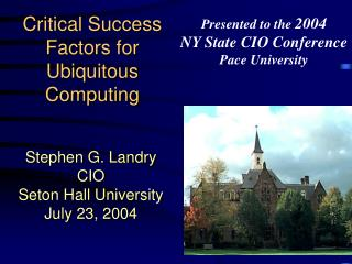 Critical Success Factors for Ubiquitous Computing
