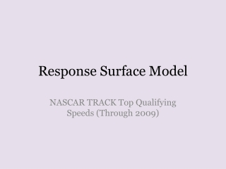 Response Surface Model