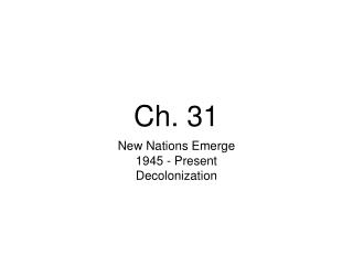 Ch. 31