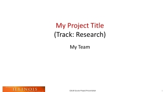 My Project Title  (Track: Research)