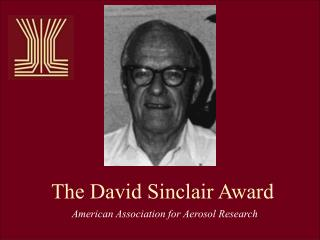The David Sinclair Award