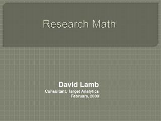Research Math