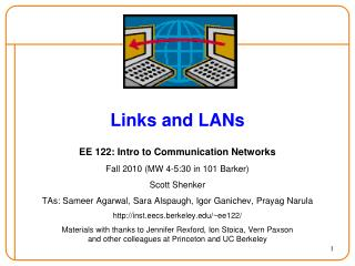Links and LANs