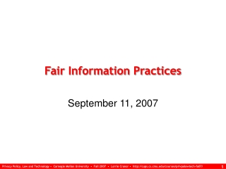 Fair Information Practices