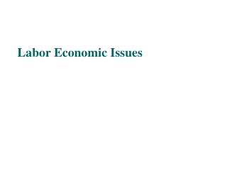 Labor Economic Issues