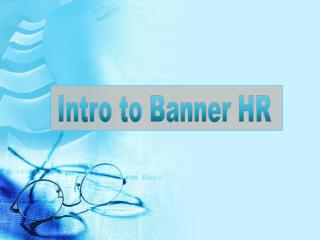 Intro to Banner HR