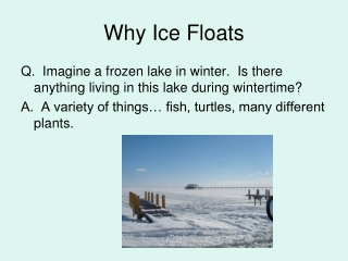 Why Ice Floats