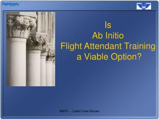 Is  Ab Initio  Flight Attendant Training  a Viable Option?