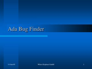 Ada Bug Finder