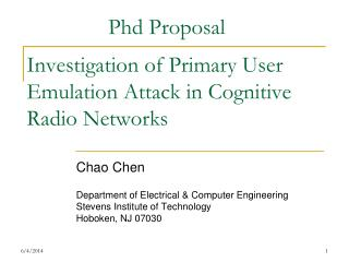 Investigation of Primary User Emulation Attack in Cognitive Radio Networks
