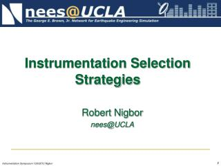 Instrumentation Selection Strategies