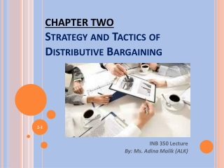 CHAPTER TWO Strategy and Tactics of Distributive Bargaining