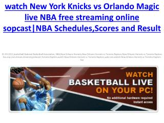 watch New York Knicks vs Orlando Magic live  NBA online HDTV