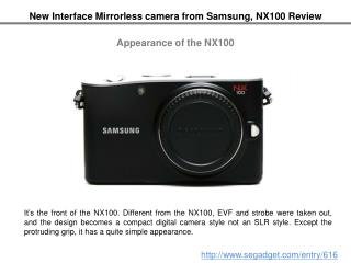 New Interface Mirrorless camera from Samsung