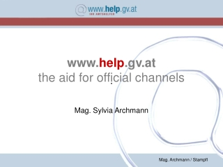 help .gv.at the aid for official channels