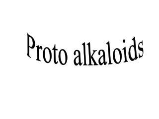 Proto alkaloids
