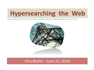 Hypersearching  the  Web