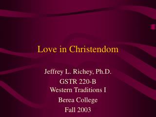 Love in Christendom