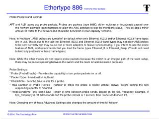 Ethertype 886 from the Intel website