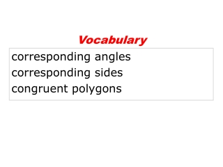 corresponding angles corresponding sides congruent polygons