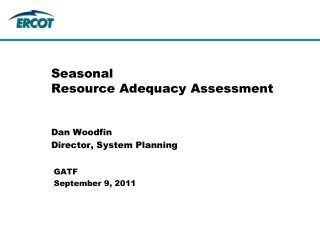 Seasonal  Resource Adequacy Assessment