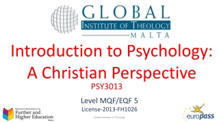 Introduction to Psychology: A Christian Perspective