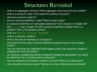 Structures Revisited