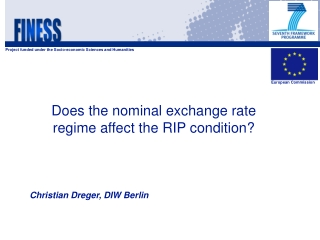Does the nominal exchange rate regime affect the RIP condition?