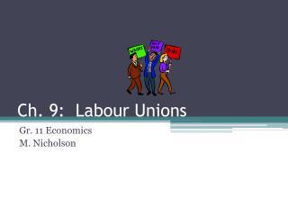 Ch. 9: Labour Unions
