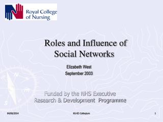 Roles and Influence of  Social Networks