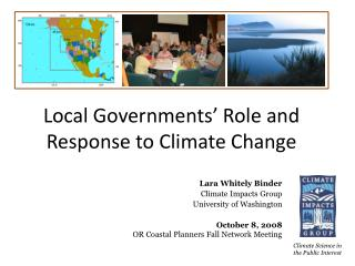 Local Governments' Role and Response to Climate Change