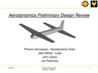 Aerodynamics Preliminary Design Review