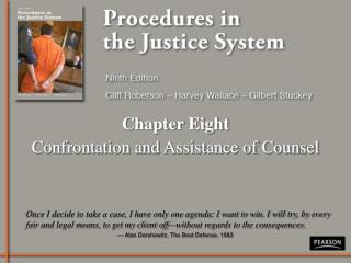 Chapter Eight Confrontation and Assistance of Counsel