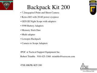 Backpack Kit 200
