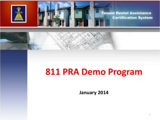 811 PRA Demo Program January 2014
