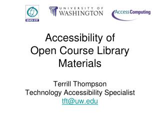 Accessibility of  Open Course Library Materials