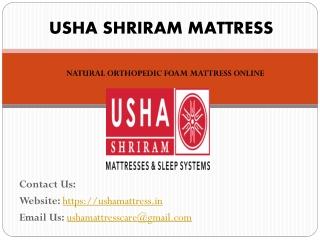 Natural Orthopeadic Mattress Online – Usha Mattress