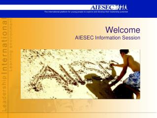 Welcome AIESEC Information Session