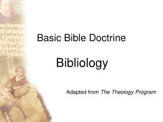 Basic Bible Doctrine
