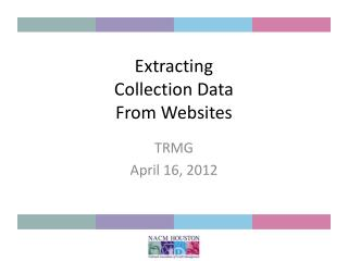 Extracting  Collection Data From Websites
