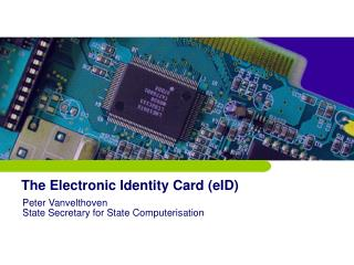 The Electronic Identity Card (eID)