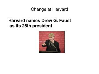Change at Harvard