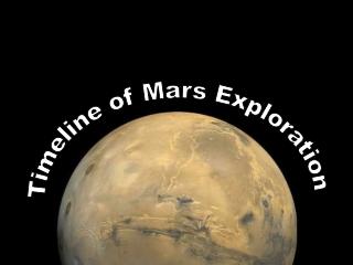 Timeline of Mars Exploration