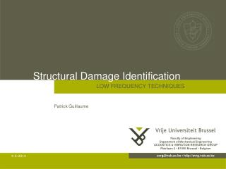 Structural Damage Identification