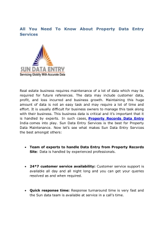 All You Need To Know About Property Data Entry Services