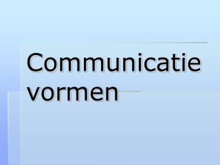 communicatievormen