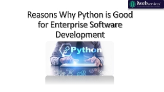 Reasons Why Python is Good for Enterprise Software Development