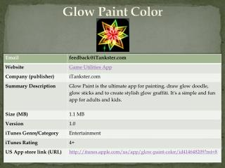 Glow Paint Color