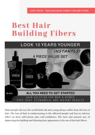 Get the Best hair building fibers at Look Thick's Online Store
